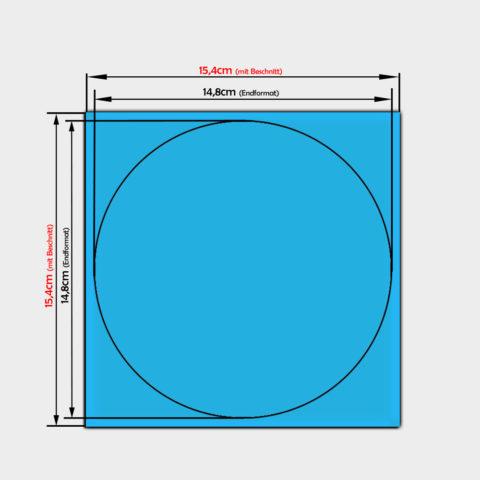 runde Papier Aufkleber mit einem Durchmesser von 14,8cm