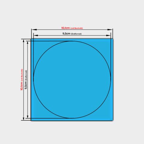 Runde papier aufkleber bestellen 9,5cm