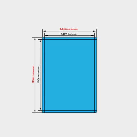 PVC-Folien Aufkleber im Format Din A7
