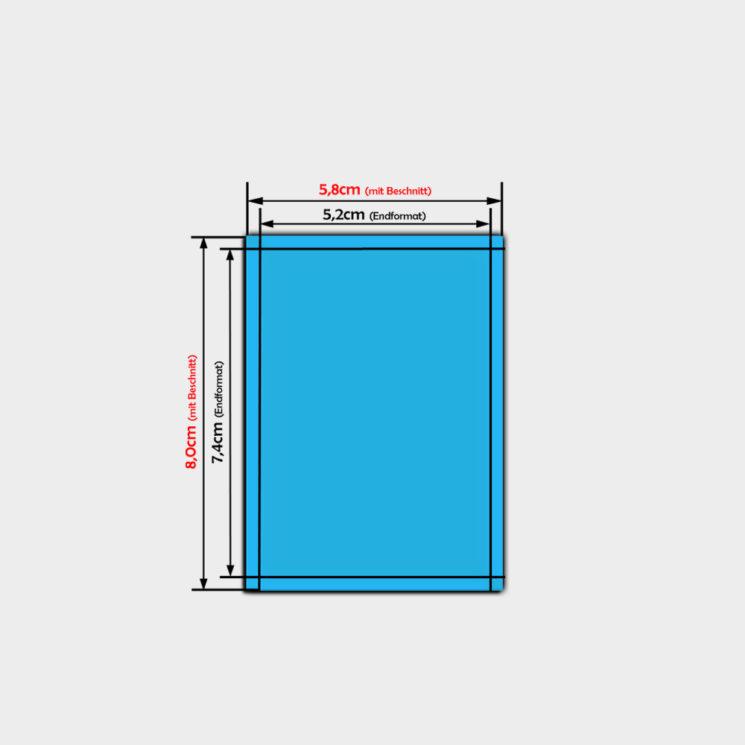 pvc folien aufkleber bestellen im Format din a8
