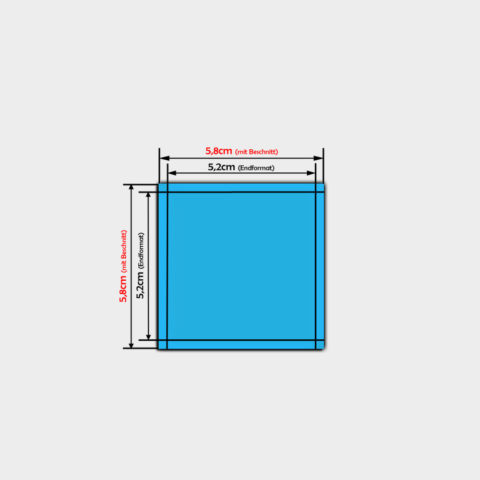 pvc Folien Aufkleber bestellen quadrat 5,2x5,2cm