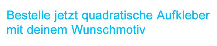 quadratische Aufkleber drucken lassen bei band-merch.de