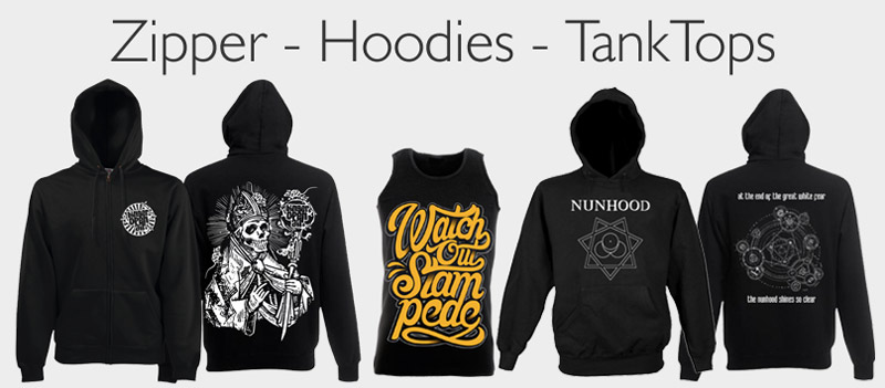 zipper, hoodies, tanks, drucken lassen